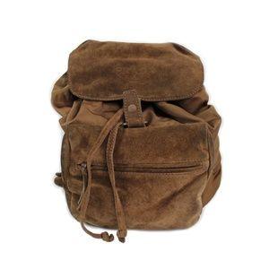 Vintage Prada Nylon Tessuto Suede Sport Backpack
